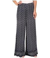 Mavi Jeans Wide Leg Pants Dress Blue Printed Women's Casual Pants Gray