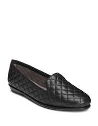 Aerosoles Betunia Smoking Flat Black Quilted