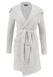 More And More Cardigan Light Grey Melange Silver