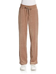 Calvin Klein Velour Track Pants Heather Morel