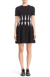 Alexander Mcqueen Women's Jacquard Knit Fit And Flare Dress