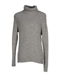 Daniele Fiesoli Knitwear Turtlenecks Men Grey