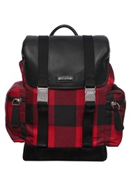 Dsquared Check Printed Nylon Backpack