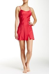 Free People Foxy Silk Slip Red