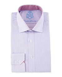 English Laundry Striped Long Sleeve Dress Shirt Pink Blue