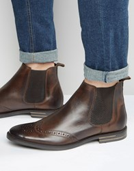 Base London Boxley Leather Chelsea Boots Brown