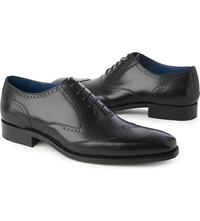Barker Johnny Wingcap Oxford Shoes Black