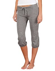 Alternative Apparel Drawstring Cropped Pants Grey Heather