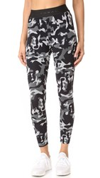 Koral Knockout Crop Leggings Black Camo Black