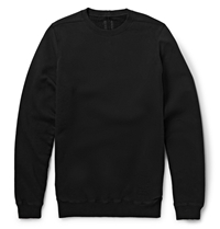 Rick Owens Crew Neck Cotton Sweatshirt Black