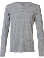Goodlife Classic Buttoned Collar Jersey Grey