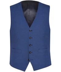 Austin Reed Plain Tailored Fit Waistcoat Blue