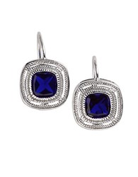 Lord And Taylor Bezel Cut Cubic Zirconia Earrings Sapphire