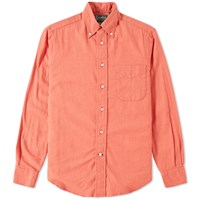 Gitman Brothers Vintage Solid Brushed Flannel Shirt Orange