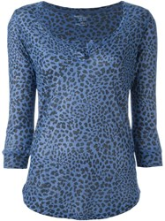 Majestic Filatures Leopard Print Top Blue