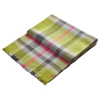 Joules Tunstall Check Scarf Olive Pink