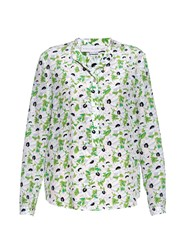 Stella Mccartney Eva Floral Print Silk Blouse