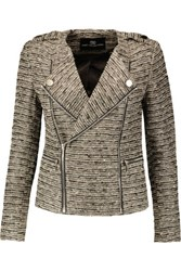 Tart Collections Amber Metallic Boucle Tweed Jacket Gray