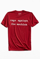 Urban Outfitters Rage Against The Machine Tee Maroon