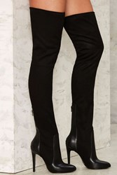 Nasty Gal High Jinks Over The Knee Boot Black