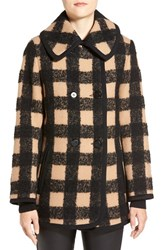 Women's Trina Turk 'Hope' Plaid Wool Blend Peacoat