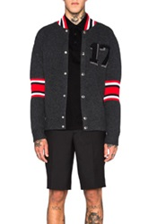 Givenchy 17 Patch Cardigan In Gray