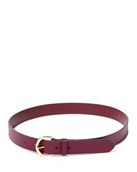 Ralph Lauren Milford Endbar Belt Claret Dark Brown