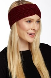 Portolano Chunky Hatchi Stitch Headband With Twist Red