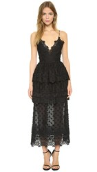 Self Portrait Ivy Lace Dress Black