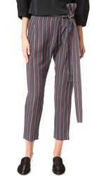 Apiece Apart Isa Wrap Pants Techno Stripe