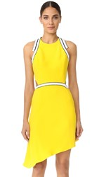 Thierry Mugler Beaded Cutout Dress Yellow