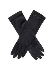 Dents Ladies Satin Evening Glove Black Gold