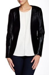 Gracia Quilted Shiny Jacket Black