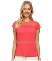 Lija Match Point Tee Hibiscus Women's T Shirt Pink