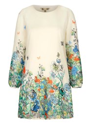 Yumi Flower And Butterfly Print Tunic White