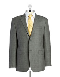 Lauren Silver Wool Blazer Grey