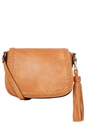 Hallhuber Saddle Bag With Braid Detail Brown