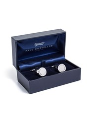 Paul Costelloe Metal Rodium Plated Cufflinks Silver