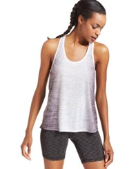 Ideology Ombre Print Stretch T Back Tank Deep Charcoal