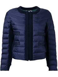 Muveil Cropped Padded Jacket Blue
