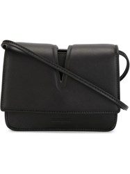 Jil Sander Cut Out Flap Crossbody Bag Black