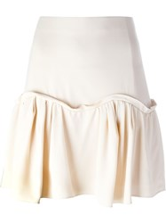 Chloe Pleated Hem A Line Skirt Nude And Neutrals