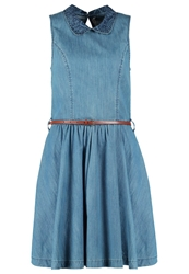 Ltb Ilona Denim Dress Aryan Wash Stone Blue