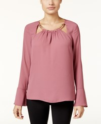 Thalia Sodi Bell Sleeve Hardware Top Only At Macy's Medieval Rose