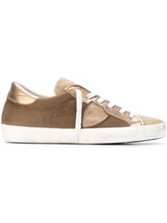 Philippe Model Lace Up Sneakers Nude And Neutrals