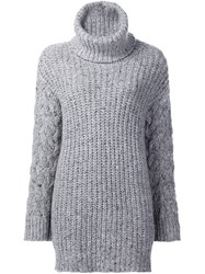 Adam By Adam Lippes Long Sleeve Turtleneck Jumper Grey