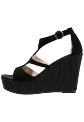 Unisa Marcos Wedge Sandals Black
