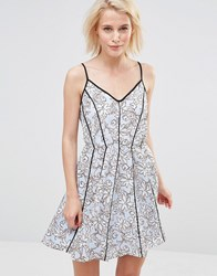 Greylin Claire Floral Dress Powder Blue