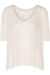 10 Crosby By Derek Lam Stretch Jersey T Shirt White