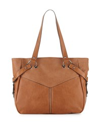 French Connection Kate Faux Leather Tote Bag Nutmeg Brown